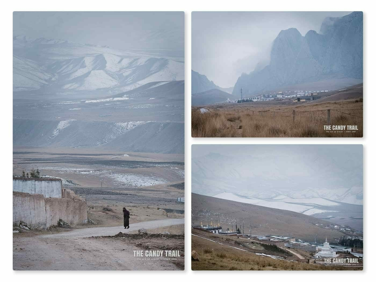 tibetan village scenes ganjia grasslands in gansu china