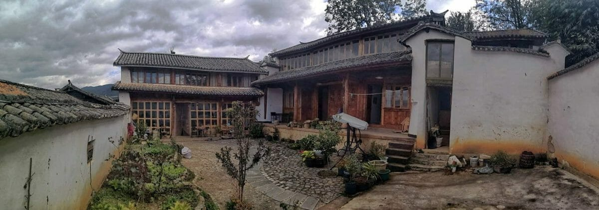 bai traditional house in shaxi village yunnan china