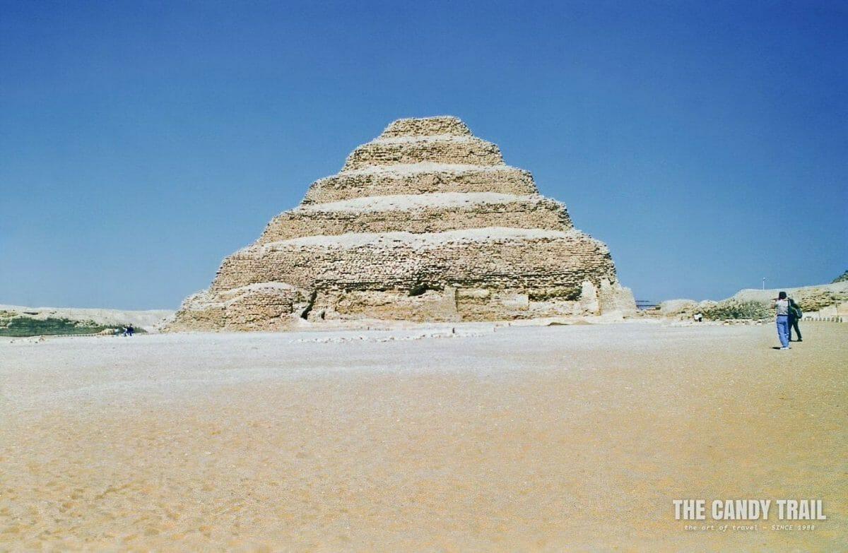 Zoser's step pyramid at Saqqara in Egypt in 1995