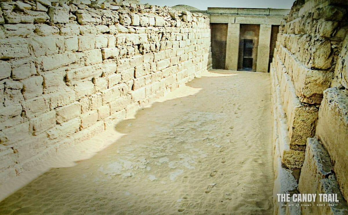 Entrance to underground tombs of Saqqara
