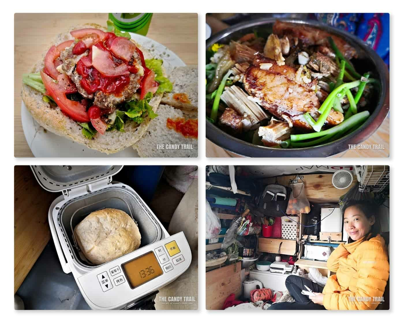 van life cooking and meals in china