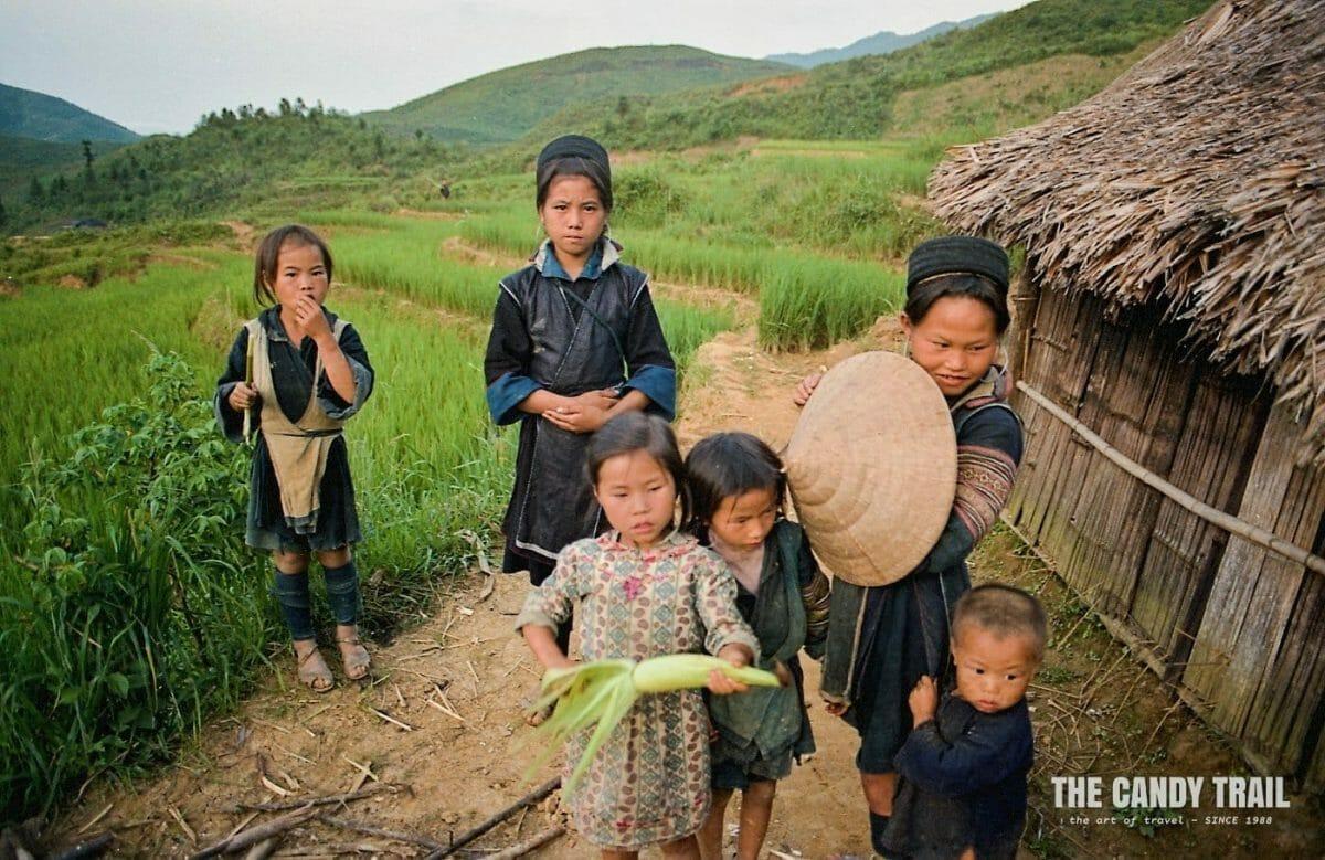 hmong hill tribe kids homestay sapa vietnam