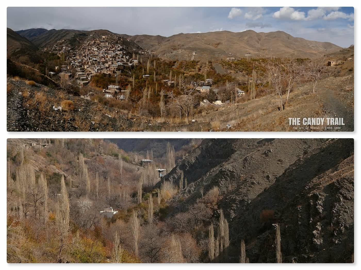 landscape around kang village iran