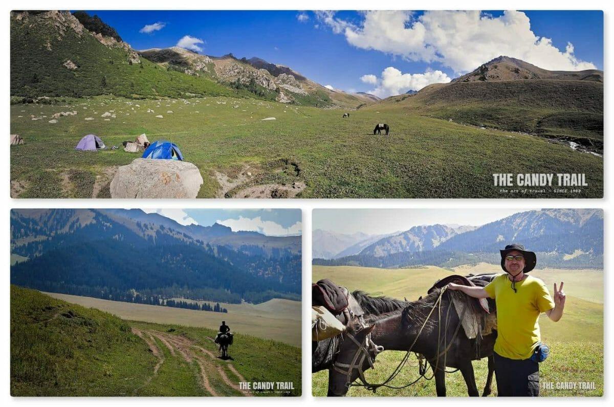 hore trekking to ala kul lake in Kyrgyzstan