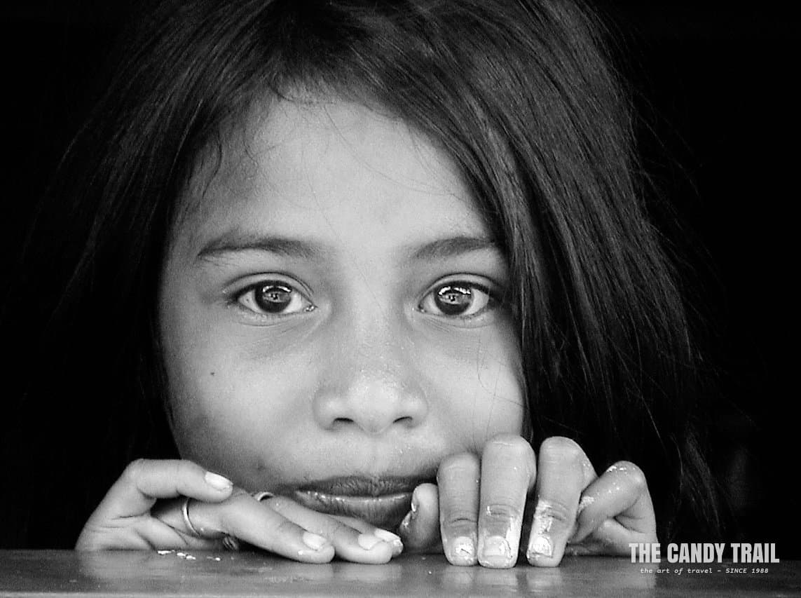young girl portrait east timor