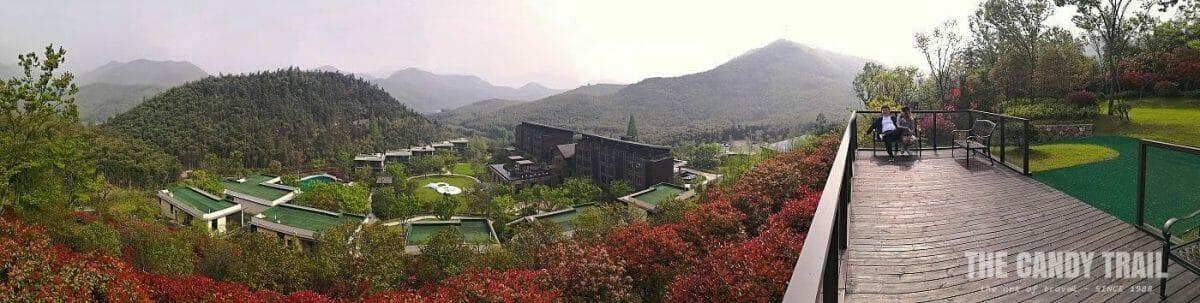 panorama of hotel resort in morganshan mountains china