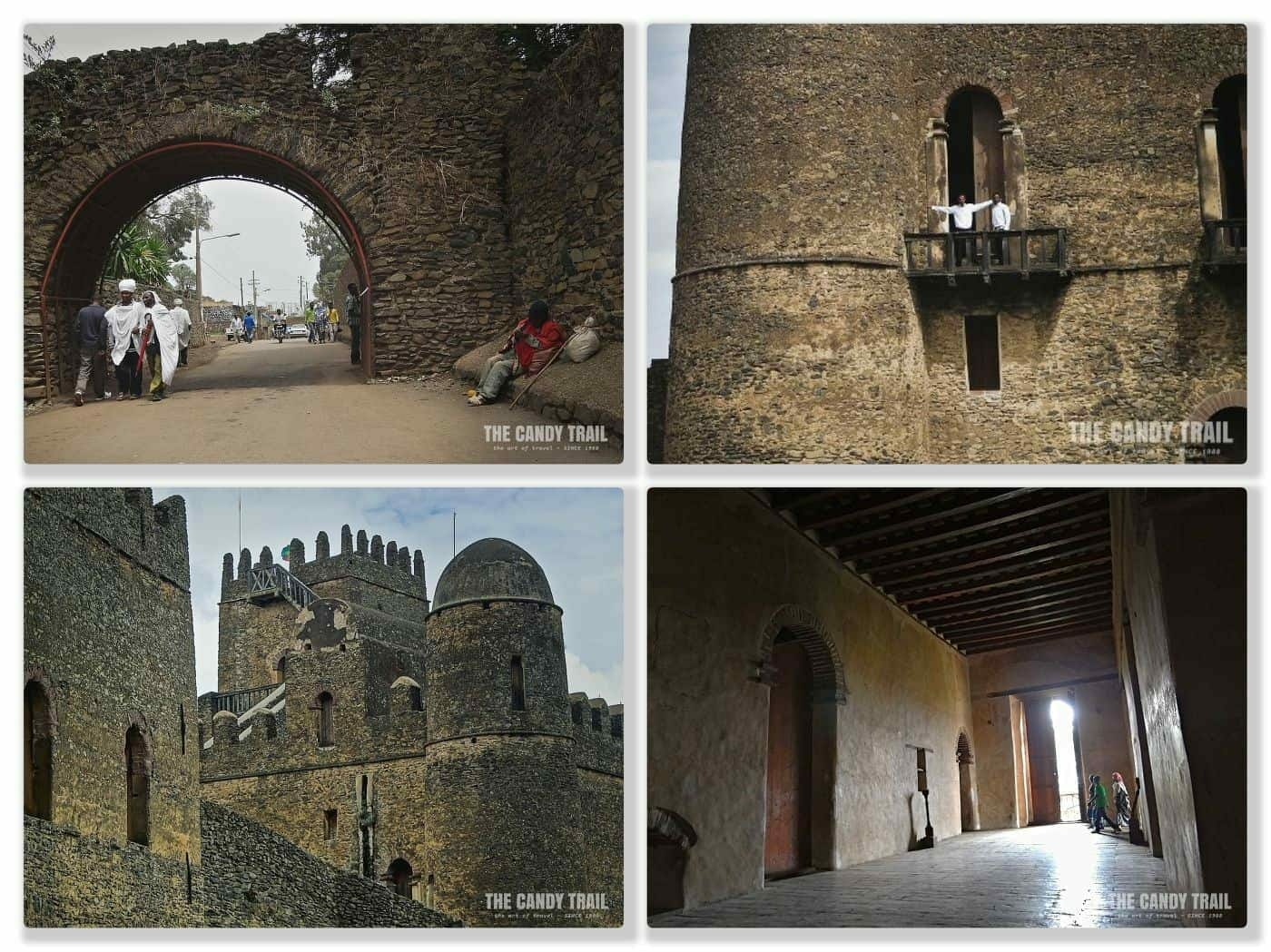 Images of Castles in the Royal enclosure at Gondar's World Heritage Site in Ethiopia.