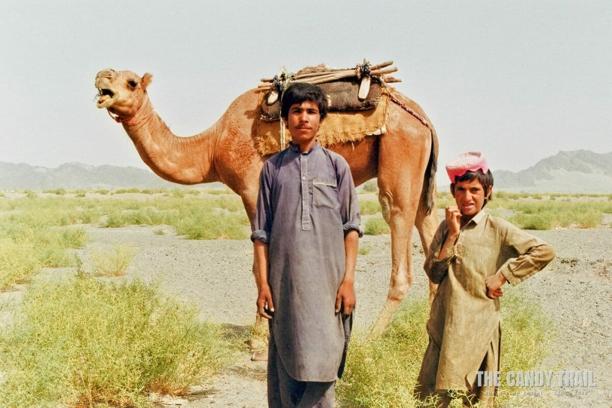 Young Baluchis amid the desert of western Pakistan.